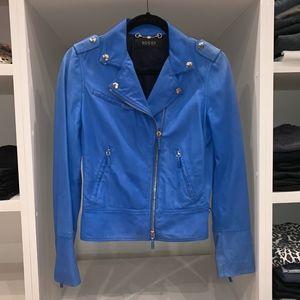 GUCCI   Vintage Electric Blue Motto Jacket